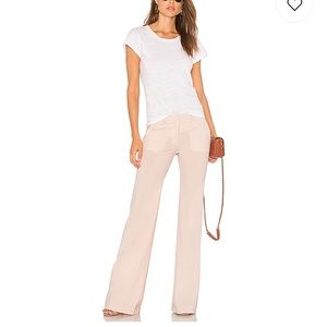 Theory Demetria 2 pink clay pants from Revolve